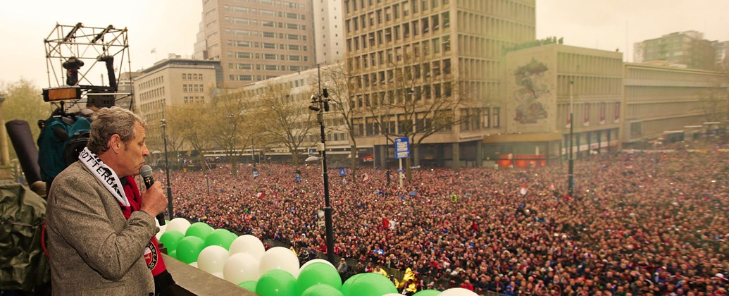 Peter Houtman Huldiging Feyenoord Coolsingel